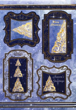 Die Cut Foil Christmas Tree Toppers and Backing Card from Craft UK Ltd